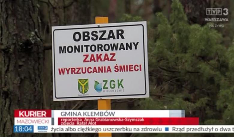 """Kurier Mazowiecki o walce ze """"śmieciarzami"""" w Gminie Klembów"""